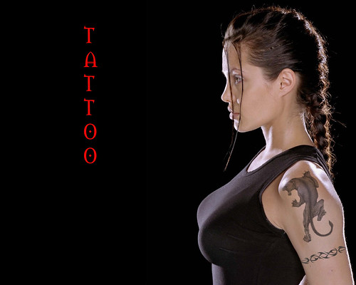 Tattoos to a picture of Angelina Tribal