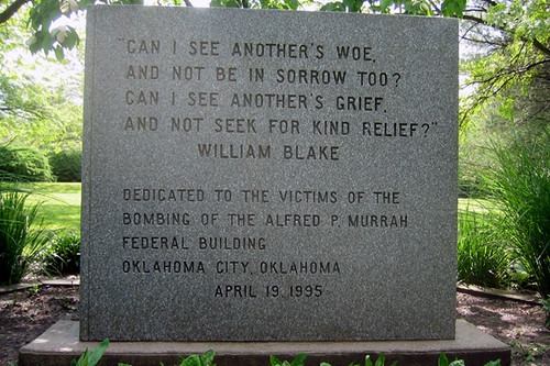 Oklahoma City Bombing Memorial in HVP Hamilton, NJ