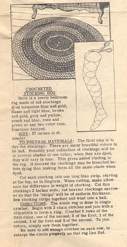 Rag Rug from Nylon Stockings