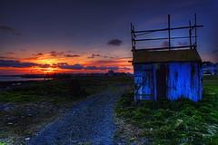 Waterfront ... (asmundur) Tags: sunset coast iceland waterfront reykjavk hdr photomatix may2006 3exposures gissa