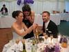 Jody explaining her pork pie wedding cake to an appreciative Tessa!