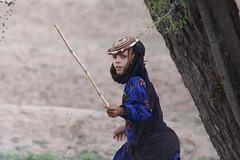 Woman with a stick wearing a little hat - Shahara area - Yemen (Eric Lafforgue) Tags: republic arabic arabia yemen arabian ramadan yemeni yaman arabie jemen lafforgue arabiafelix  arabieheureuse  arabianpeninsula ericlafforgue iemen lafforguemaccom mytripsmypics imen imen yemni    jemenas    wwwericlafforguecom  alyaman ericlafforguecomericlafforgue contactlafforguemaccom yemenpicture yemenpictures