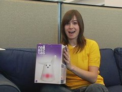 out of the box (Veronica Belmont) Tags: cnet veronicabelmont nabaztag