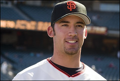 Travis Ishikawa (laheringer) Tags: sanfrancisco california 1 exterior baseball sbcpark giants pacbellpark boysofsummer sanfranciscogiants firstbase lefthander attpark lexaronfieldnight travisishikawa