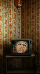 television (Mary Hockenbery (reddirtrose)) Tags: newmexico abandoned topf25 television tv topv555 topv333 topv1111 topc50 jesus topv999 50100fav topv777 spiritual