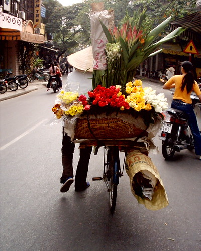 flower seller, ha noi