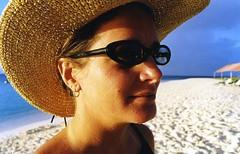 Amy (zanzibar) Tags: sea portrait beach hat amy anguilla