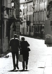The road together (the bbp) Tags: road street city blackandwhite bw italy town couple strada italia fv5 bn via together hp5 insieme ilford bianconero biancoenero vicenza citt coppia veneto stolenshot topphotoblog a1f1 dailyvip thebbp contr provadv