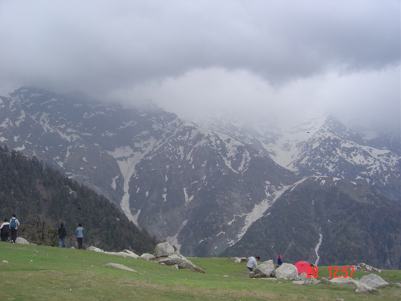 The popular day trek from mcleod ganj to the triund peak 8kms oneway