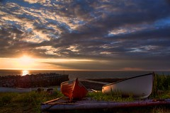 Resting (iJohn) Tags: ocean sunset sea sun water tag3 taggedout boats boat tag2 tag1 quality tide wharf bayoffundy instantfave mireasrealm gtaggroup goddaym1 subtlehdr