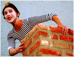 Amy On The Roof (Paul Zollo) Tags: mime love pantomime silent eloquence chaplin busterkeaton fellini childrenofparadise hollywood hollywoodcahuenga hotelcafe all