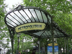 Art Nouveau station entrance, Paris Metro (Richard and Gill) Tags: paris france station sign underground metro entrance railway artnouveau hectorguimard metroparisien