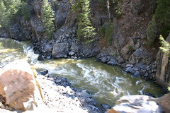 Down in the Gorge (Robby Edwards) Tags: railroad vacation water train river colorado silverton durango animasriver narrowgaugerailroad