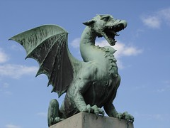 Dragon (the dragon bridge in Ljubljana, Republic of Slovenia) by Zoe52, on Flickr