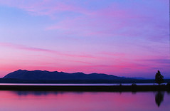 Tranquility (Ozyman) Tags: pink usa lake reflection topf25 sunrise landscape dawn nationalpark topf50 scenery quality peaceful tranquility calm yellowstonenationalpark yellowstone wyoming colourful pinksky tranquil calmness     usnationalparks    exploretop20