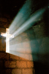 Lux aeterna (Stringendo) Tags: longexposure light church window christ cross crucifix rays lalibela ehtiopia thruawindow pentaxespio150 ourworld2006 bbcphotocompetition2006