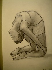 Camel Asana (Digital Owl) Tags: moleskine yoga sketch drawing camel graphite asana sonydsct33 mge digitalowl digiowl