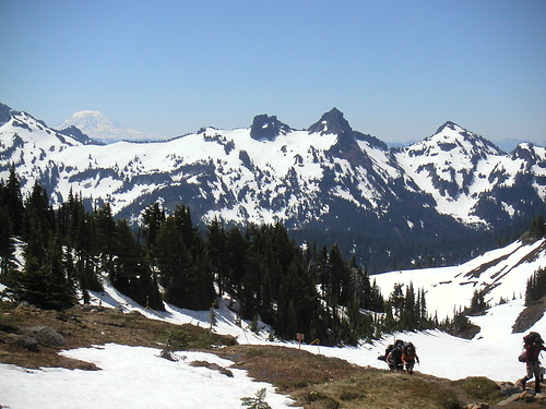 Mount Adams behind the Tatoosh Range. View from Mount Rainier#39;s Glacier Vista: 6336 ft. SM.060625.1123.0041