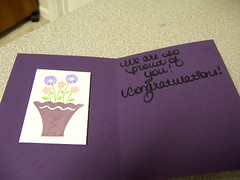 Card For Mom (Congrats!) - Inside (mintlipgloss) Tags: card congratulations stampinup congrats flowerfilled