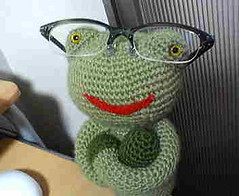 Knitted Frog -  - (mtsuyugu) Tags: knit frog knitted      knittedfrog