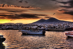Morning Seagull over Vesuvius (Stuck in Customs) Tags: world ocean morning travel light italy mountain bird art water beautiful animal sunrise landscape boats photography volcano boat photo nikon colorful europe pretty italia amalficoast dynamic seagull gull gorgeous d2x dream scenic fresh divine professional adventure international photograph stunning napoli naples vesuvius top100 portfolio charming foreign bayofnaples fabulous vesuvio technique hdr tutorial trey artisitic meditteranean lucisart engaging travelphotography portfolios ratcliff nikonstunninggallery d2xs hdrtutorial challengeyou stuckincustoms challengeyouwinner imagekind treyratcliff focuspocus stuckincustomsgooglescreensaver portfoliodotcom portfoliosdotcom