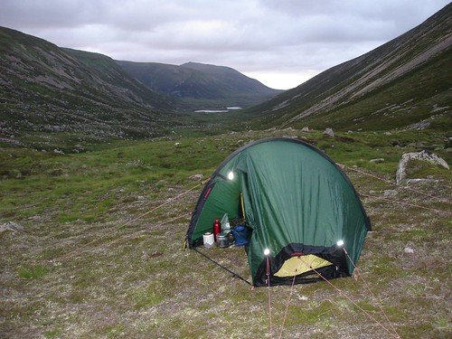 Camping in Lairig an Laoigh at 750m