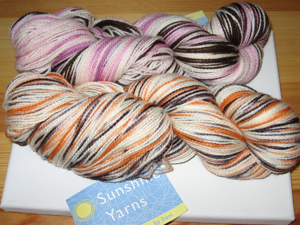 Sock yarn from Sunshine Yarns