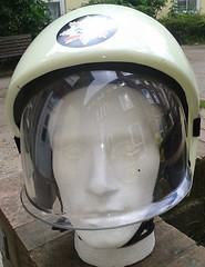 1997 London Fire Brigade Rmer GXE Fire Helmet (Replica) (Lesopc) Tags: london fire helmet galaxy 1997 1998 firefighter trial visor brigade kevlar rmer ppe gxe bullard lfb lfcda