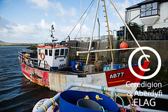 The 'Quaker' and 'Pen Dinas' boats at Aberystwyth harbour /  Cychod y 'Quaker' a 'Pen Dinas' yn harbwr Aberystwyth (Ceredigion Fisheries Local Action Group (FLAG)) Tags: uk wales boat town fishing crab aberystwyth lobster welsh cardiganbay seafish inshorefishing johngorman