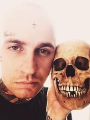 (xkonyayx) Tags: tattoo death skull siberia skinhead facetattoo