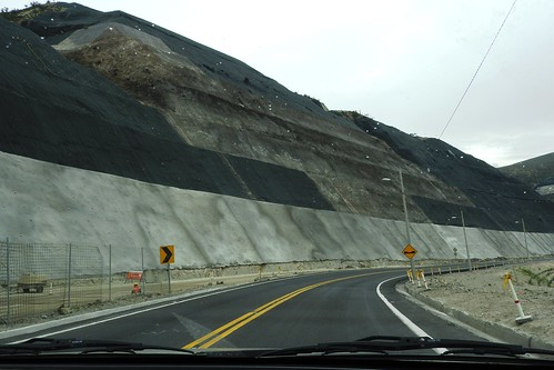Quito`s New Road System. Mountains Had To Be Almost Cut In Half To Build It