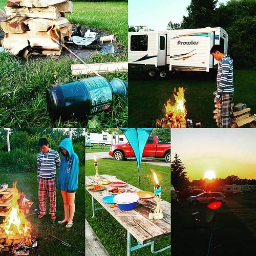 #camping #campfire #upstateny #darienlake #glamping #dinner #summervacation