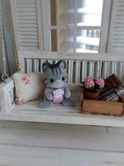 (*Joyful Girl ♥ Gypsy Heart *) Tags: miniatures swing frontporch 112 dollhouse shabbychic sylvanian calicocritter greenfarmhouse joyfulgirlgypsyheart