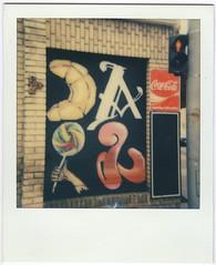 shop (lengvari) Tags: color film shop closeup polaroid for graffiti beta cameras instant cocacola 20 trafficsign | 636 600type polaroid