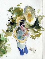Tubaluba Tuba Player (MicheleC2) Tags: urban neworleans tuba usk sketchers