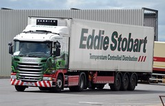 Stobart L7753 PK14 UVM Lyndsey Karen at Portobello Industrial Estate 10/7/15 (CraigPatrick24) Tags: road truck fridge cab transport lorry delivery vehicle portobello trailer scania logistics stobart eddiestobart stobartgroup l7753 lyndseykaren pk14uvm scaniag410 stobartfridge portobelloindustrialestate
