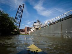 SS Calumet   Cleveland (robvaughnphoto.com) Tags: kayak cleveland greatlakes freighter calumet cuyahogariver lakefreighter davidznorton williamrroesch rjvtog