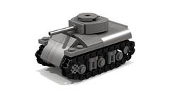 Sherman M4A1 mini tank (Tamas090) Tags: sherman shermantank ustank m4a1sherman legominitank