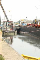 kraancrash Julianabrug-7296 (leoval283) Tags: bridge crash cranes pontoons ponton alphenaandenrijn alphen julianabrug hijskranen brugdek