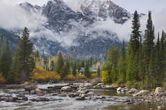 A place to live (hansmayo_p) Tags: autumn river yellowstone mountainside wyoming grandteton autumncolor bytheriver