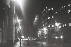 London At Night (goodfella2459) Tags: nikon f4 af nikkor 50mm f14d lens ilford delta 400 35mm black white film analog london night street city milf bwfp