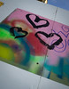 For your love (S's images) Tags: seaside street art graffiti abstract paint sprayed hearts black blue green red pink white