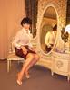 Brown (alex.silk) Tags: skirt legs curves bra stockings nails pencilskirt feminine ffnylons enfemme garter secretsinlace lipstick satin highheels bulletbra blouse suspender