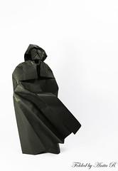 Darth Vader (Angel Morollón) (OrigamiSunshine) Tags: origami origamisunshine paperfolding paper fold darth vader star wars angel morollon movie series biotope dark