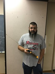 """Andy O. made and donated ice fishing pole """"The Green Hornet"""" from """"The Grumpy Old Men"""" movie"""