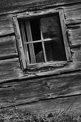 Tilted (Walter Quirtmair) Tags: ifttt 500px window facade black white rural rustic barn hut quirtmair shed