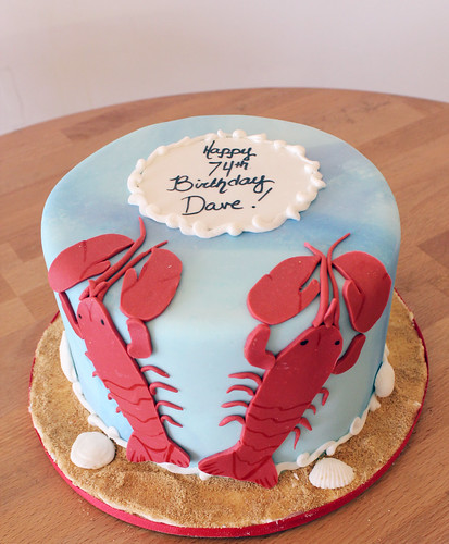 Twin Lobster Birthday Cake