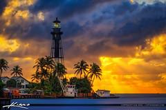 Hillsboro Inlet Lighthouse Pompano Beach Sunrise (Captain Kimo) Tags: aurorahdr2017 captainkimo easyhdr florida hdrphotography hillsboroinlet hillsborolighthouse lighthouse lovefl pompanobeach sunrise