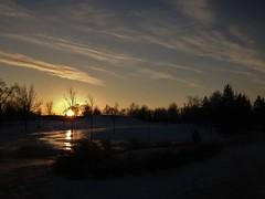 (Espykrelle) Tags: sunset son soleil winter hiver montreal snow trees arbres neige parc park sky clouds nuages nature landscape paysage 7dwf