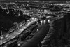 Down on the City (MattSnapsPhotography) Tags: night basin lighting old offices reflections city banks junction cumberland town homes lights avon street houses road monochrome river dark bristol pier cars bulbs mud port clifton harbour